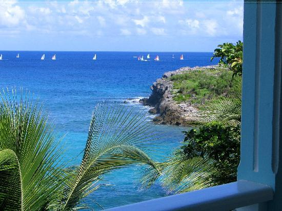 Auberge de la Petite Anse: view from balcony