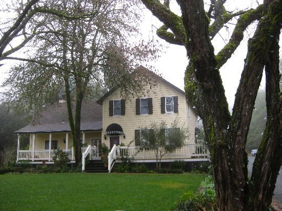 Farmhouse Inn: The main building and home to the restaurant
