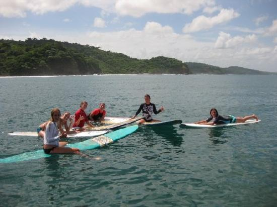 Chica Brava Surf Retreat: everybody on the boards