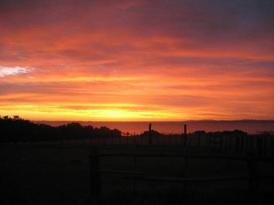 Castillos, Uruguay: sunset from estancia