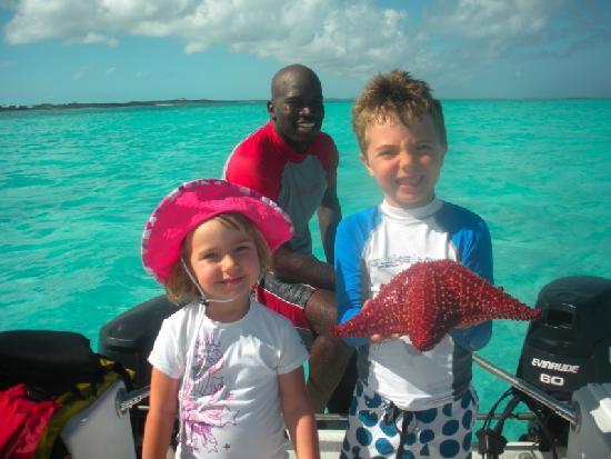 Starfish The Exuma Adventure Center: Collin, Charlotte and Neville
