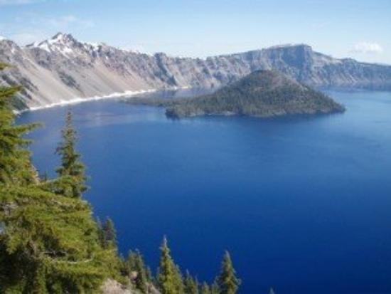 Wizard Island: Crater Lake, The deepest and bluest in the nation. The 7th deepest in the world.