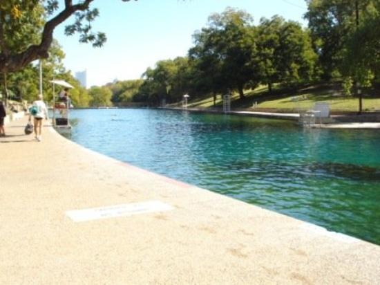Barton Springs Pool: The water felt so good after our ride!!