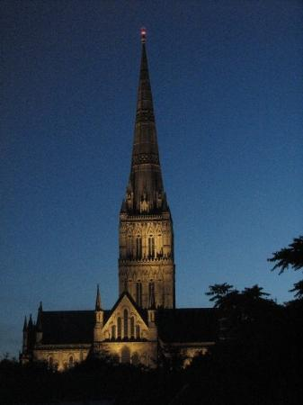 Cathedral View: Salisbury Cathedral from our bedroom window of the B&B we're staying in.