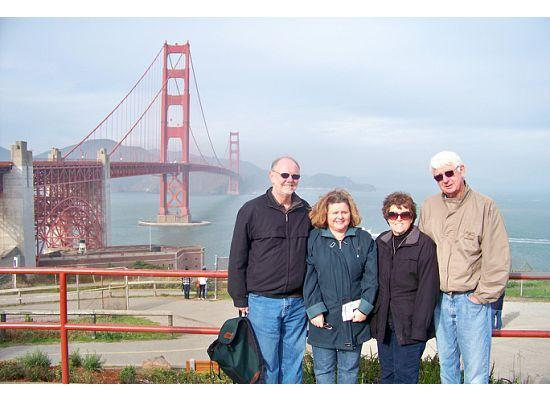 Urban Trek USA: our group at the golden gate bridge