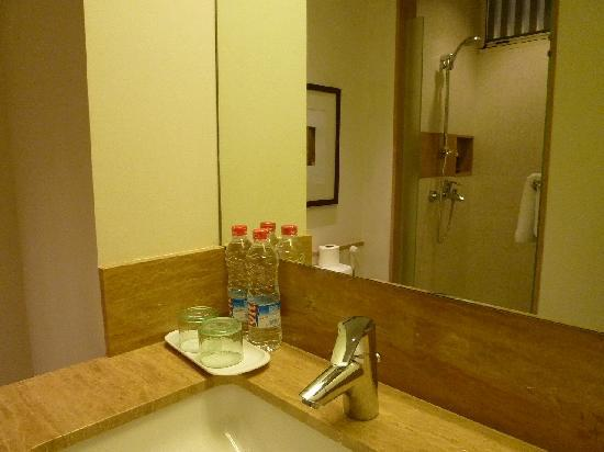 Tanaya Bed & Breakfast: Delux-ようやくホテルらしい造りのシャワールーム