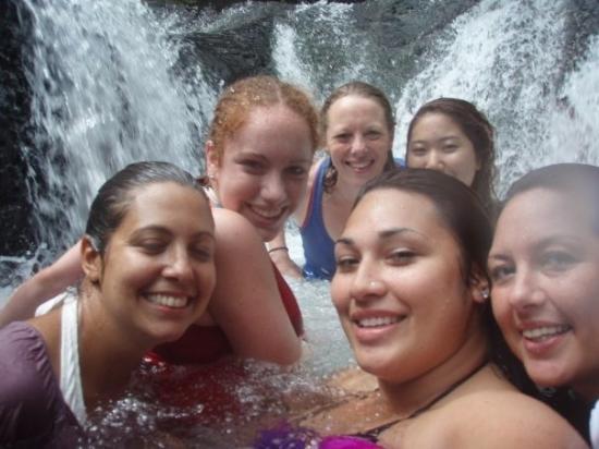 Apia, Samoa: sliding rock