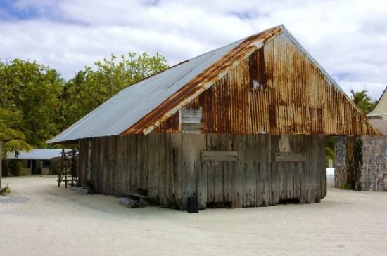 Palmerston Island, Cook Eilanden: Byggt av vrakgods i slutet av 1800-talet.