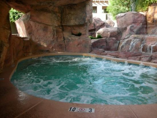Hot Tub At The Main Pool In Cave Behind Waterfall