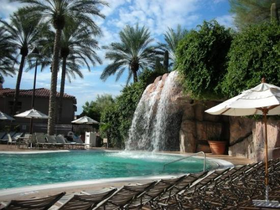 Main Pool Waterfall Picture Of Sheraton Desert Oasis