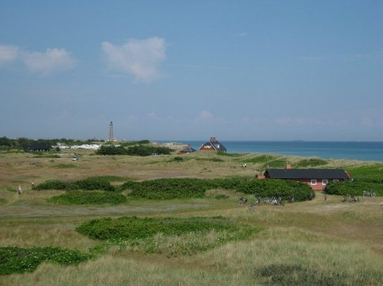 Skagen, Dánia: View towards the northern tip of Denmark - Grenen