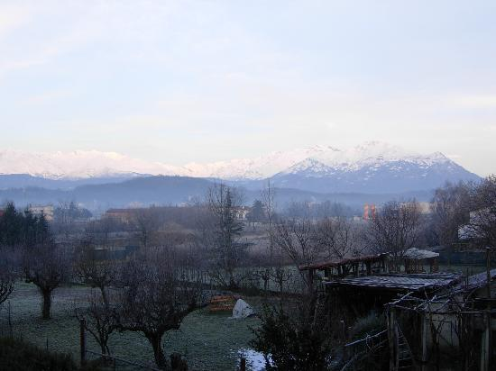 Hotel La Villa: View of the Alps from my room terrace