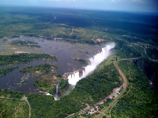 Victoria Falls Safari Lodge: Vic Falls from Helicopter