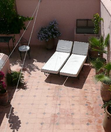 Riad Soumia: The roof terrace