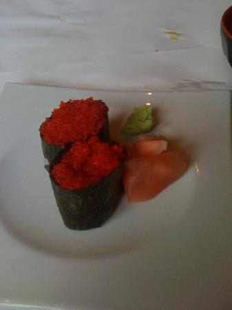 Sake Cafe Uptown: an order of flying fish roe