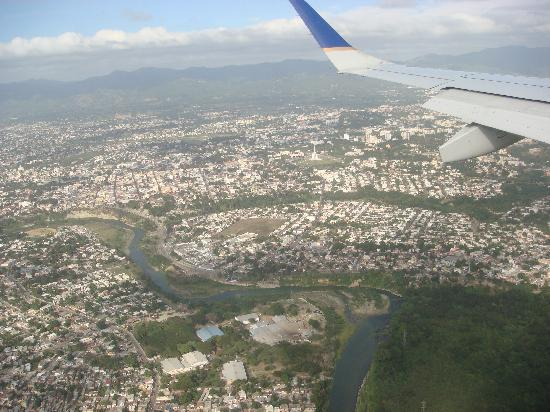 Hotel Celuisma Cabarete: view from airplane