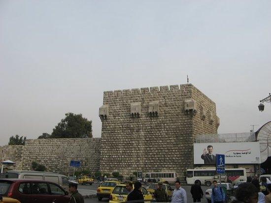 Fortress Wall : Old wall downtown Damascus