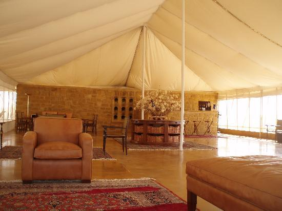 View of tents from the swimming pool picture of the - Jaisalmer hotels with swimming pool ...