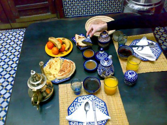 Riad Boujloud: Colazione del riad