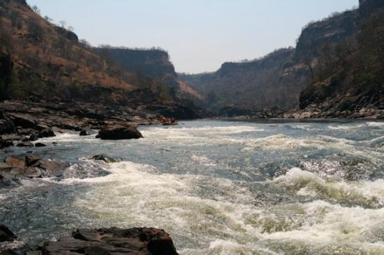 Zimbabwe: The river was spectacular.  During rainy season the hillsides are lush and green and the river t