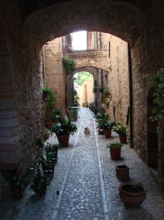 Smalle straatjes in Spello