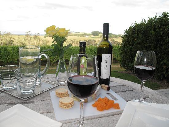 Takatu Lodge & Vineyard: Picnic in our room terrace