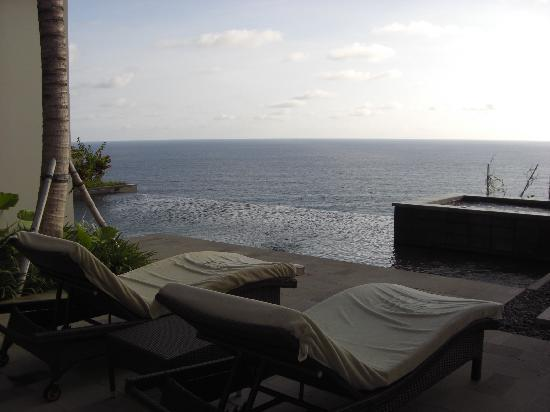 Banyan Tree Ungasan, Bali: View from the villa pool