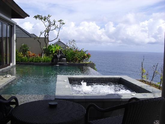 Banyan Tree Ungasan, Bali: View from the daybed