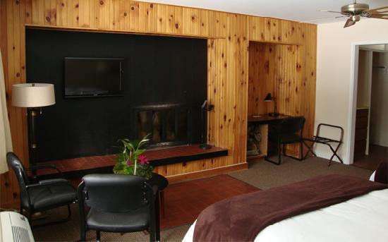 Auberge Mont-Habitant : Fireplace