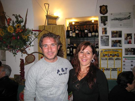 Aldo(one of the owners) & I in La Taverna dei Fori Imperiali