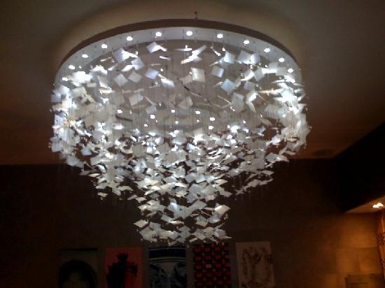 Funky chandelier in reception picture of hotel le petit paris hotel le petit paris funky chandelier in reception aloadofball Choice Image