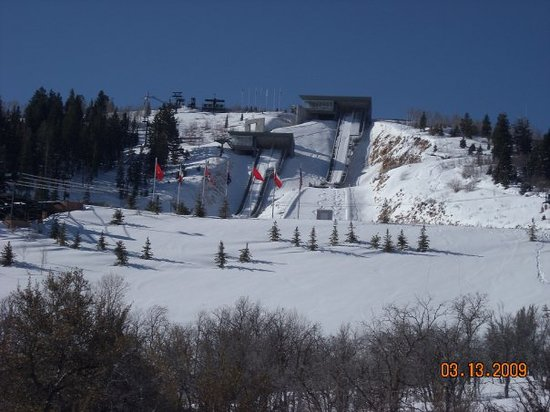 Utah Winter Sports Park: Ski jumps course at Olympic Park