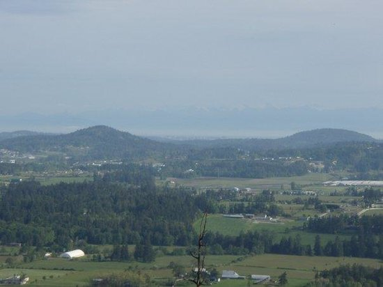 Central Saanich, Kanada: The (very faint) mountains in the background are the cascades in Washington State.