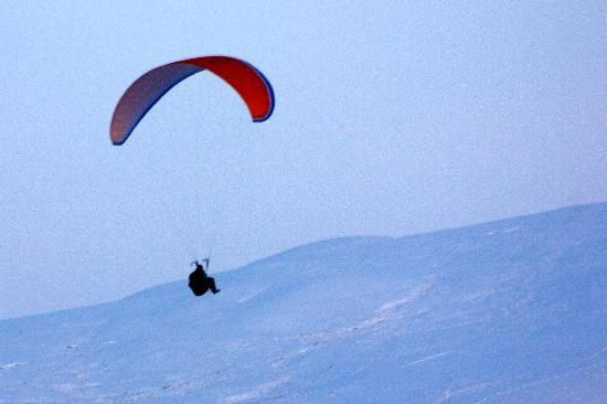 Dumfries og Galloway, UK: Paragliding Devil's Beef Tub Moffat