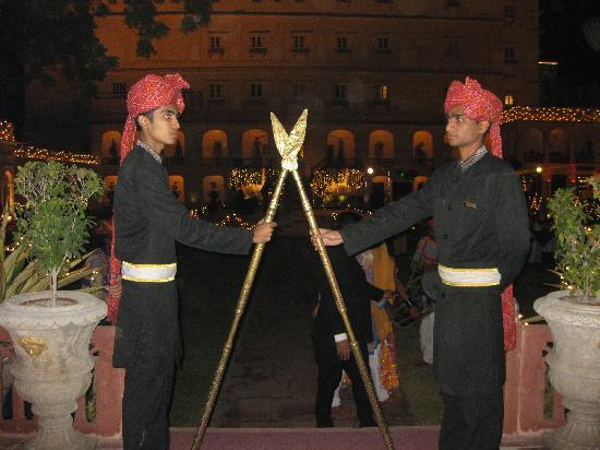 The Raj Palace Grand Heritage Hotel: Announcing our arrival for Christmas Eve Dinner!