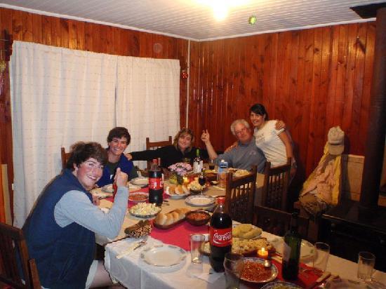 Jack Trout Fly Fishing : Carola serves the lavish and festive dinner