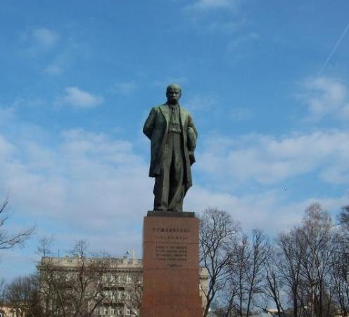 This Statue Of Ukraine S Favorite Son Is In Front Of The