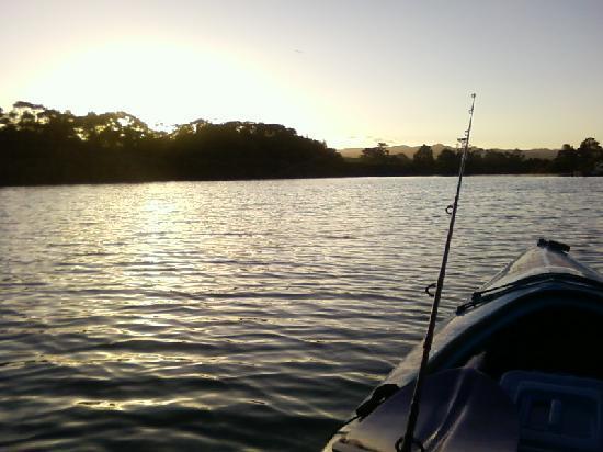 Riverside Matakana: Sunset on the Glen Eden River