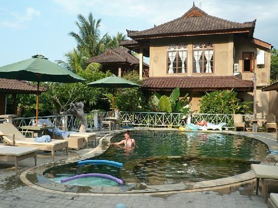 Kaliasem, Indonesia: the pool and houses