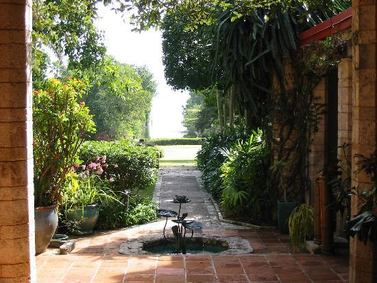 The courtyard at The Kampong