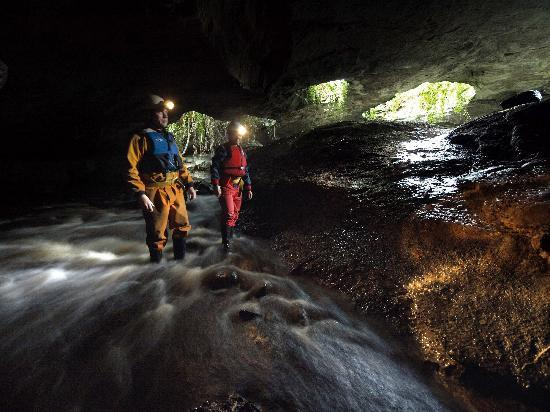 Corralea Activity Centre and Cottages: Caving with our caving instructor
