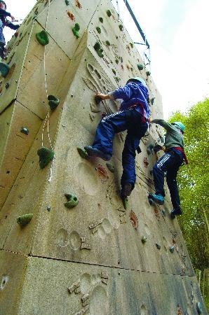 Corralea Activity Centre and Cottages: Climbing on our purpose built wall