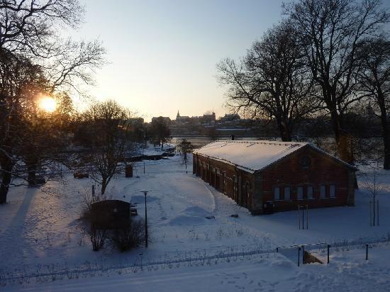 Hotel Skeppsholmen: Good morning Stockholm. View from hotel's room