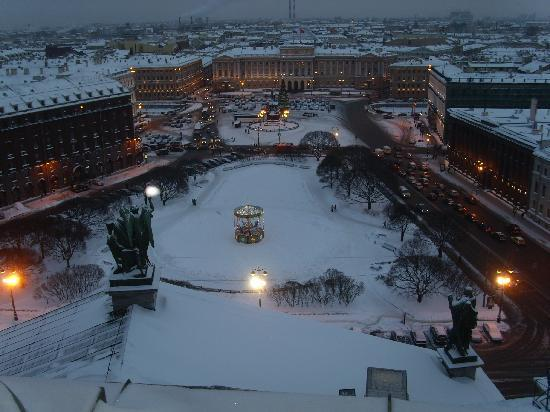 San Petersburgo, Rusia: View from st Isaccs cathedral