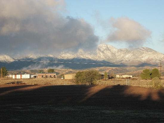 Xanadu Ranch GetAway / Private Guest Rooms / Guest Ranch & Horse Motel: view out back after a stormy night