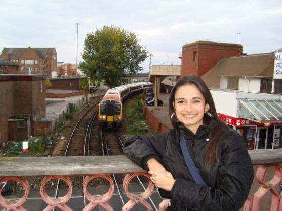 Poole, UK: The Train is Cooming!! :)