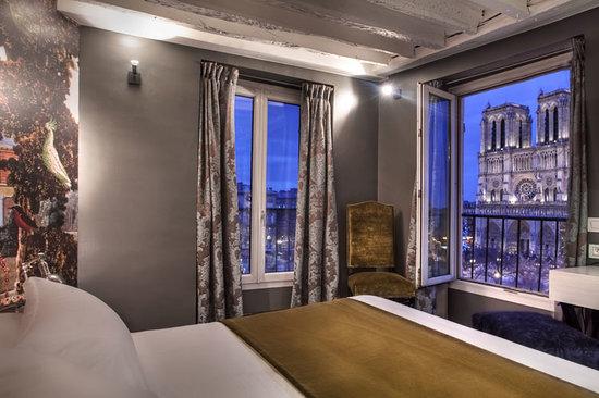 Hotel le Notre Dame: chambre vue sur Notre Dame ouverture 21 january
