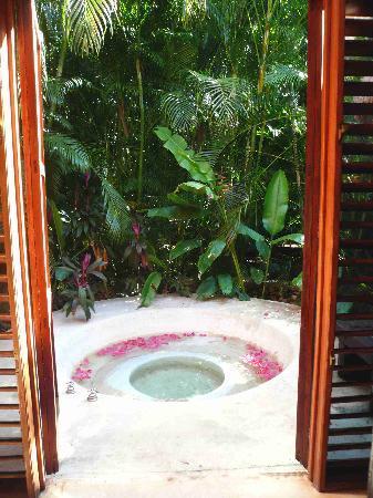 Hacienda San Jose, a Luxury Collection Hotel: Pool im Garten der Mayan Villa
