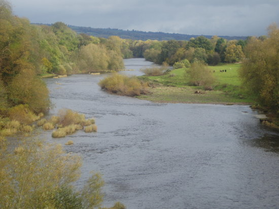 Hay-on-Wye, UK: The River Wye at Hay