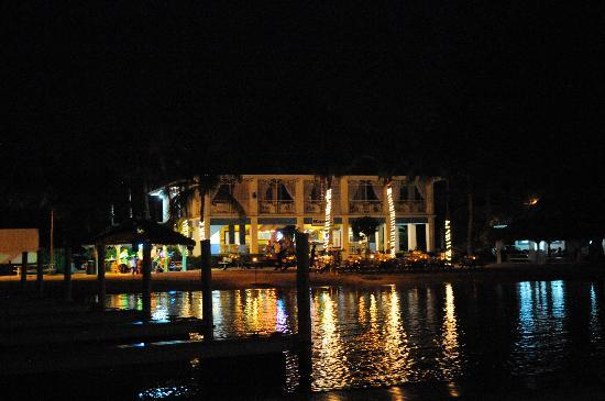 Caribbean Club: The pool at night.